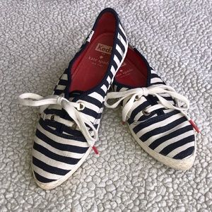 Less for Kate Spade Striped Tennies- 6.5